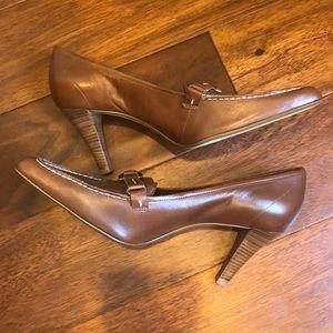 WORN ONCE brown heels